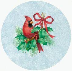CHRISTMAS CARDINAL CLIP ART