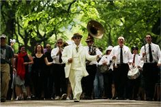 Procession for the funeral of Frankie Manning, father of Lindy Hop