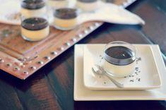 Lavender Panna Cotta with Dark Chocolate Ganache