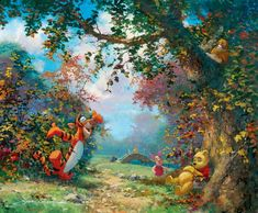 ♥♥Pooh Bear & Friends were a big part of my kids' lives growing up♥♥ James Coleman 1949 | American Impressionist painter