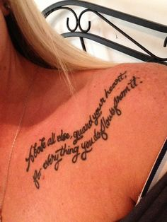 Tats on pinterest clavicle tattoo small tattoos and for Above all tattoo