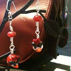 Angry Bird Earrings, okay I kind of really want these, but then the boy child would want me to pierce his ears...