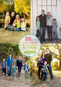 Need advice on how to pick what to wear in pictures? Use this collection of color themed family photos for inspiration on picking clothing to wear in family photos   KristenDuke.com