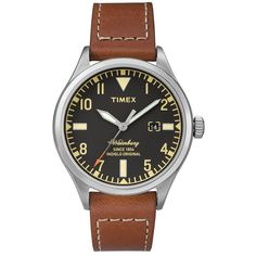 World-renowned watchmakers Timex team with famed bootmaker Red Wing for a limited collaboration. The Waterbury is based on a historic design from the Timex archive, styled with a Red Wing leather strap and a clean stainless steel case.  40mm Stainless Steel Casing Red Wing Leather Strap Full Arabic Dial 50 Metre Water Resistance Limited Edition