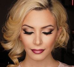 Modern Bride - This eye look would suit both a natural and modern bride, I think the overall look is made modern by the ombre lip and lots of highlight.