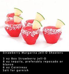 Strawberry margarita jello-o shots