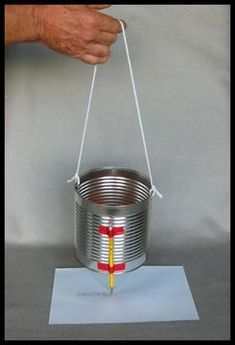 Kids Science Activities, Tin Can Seismograph