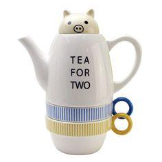Shinzi Katoh Tea For Two Pig