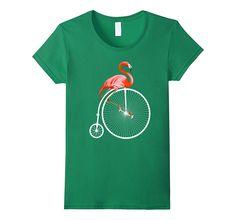 Flamingo on A Bike Bicycle TShirt