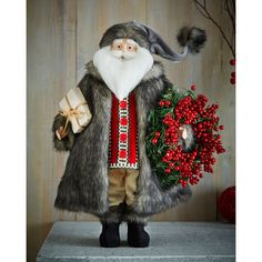Shop Winter Fantasy Santa at Horchow, where you'll find new lower shipping on hundreds of home furnishings and gifts. Christmas Berries, Christmas Dog, All Things Christmas, Vintage Christmas, Christmas Holidays, Christmas Crafts, Christmas Decorations, Christmas Ideas, Holiday Decorating