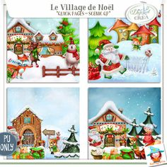 Le village de Noel Scenic QP Egalement disponible chez Digiscrapbooking http://www.digiscrapbooking.ch/shop/index.php?main_page=index&manufacturers_id=129