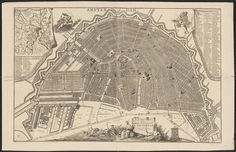 Map of Amsterdam, 1690 Brooklyn Map, Amsterdam Map, Map Sketch, Dutch Golden Age, Old Maps, Tuscany Italy, City Maps, Historical Maps, Middle Ages