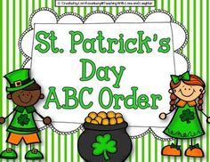 {Freebie} St. Patrick's Day ABC Order