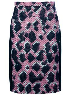balenciaga pixel print python pencil skirt