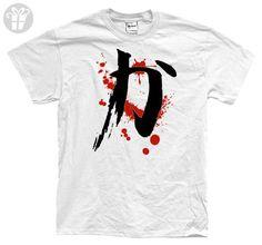 KANJI STRENGTH - bushido karate japan fighting Tee Shirt T-Shirt, 2XL, White (*Amazon Partner-Link)