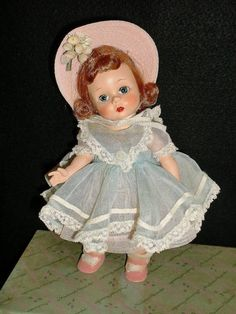 She has original cotton undies and slip and pink straw hat with flower trim. Her pink side snap shoes are top stitched but a little frayed around the edges. 1953 Alexander-kins Doll. The strung doll is spectacular with shiny red hair, bright rosy cheeks and a lovely matte finish face. | eBay!