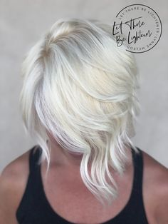 From Blonding and Balayage to Dimensional, Lived-In Color, Let There Be Lightener offers all of your hair's coloring and styling needs! Begin your hair journey today! Icy Blonde, Platinum Blonde, Lob Haircut, Amazing Transformations, Hair Colorist, Hair Journey, Hair Looks, Blondes, Compliments