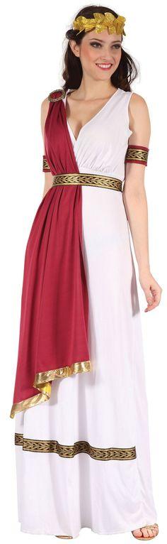 Ladies White Ancient Greek/Roman God Fancy Dress Costume