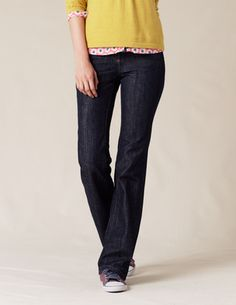 these jeans might work for you. designed for women in their 30s, I think, so no trendiness or flashiness. Sits at natural waist and with a petite inseam.