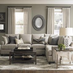 Custom Upholstery Medium L Shaped Sectional. Curtains With Grey WallsGrey  Living Room ... Part 84