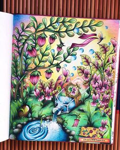 "Lauracoloring on Instagram: ""Fim de tarde e um lago 💧🌅🌿 @klaramarkovajewels  Esse colorido foi feito em telepatia com a @carolpafiadache 💕 #klaramarkova…"" Coloring Book Art, Adult Coloring, Coloring Pages, Fantasy Town, Markova, Art Drawings For Kids, Illustrations, How To Draw Hair, Prismacolor"