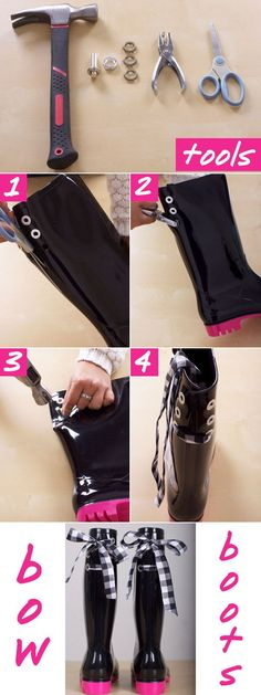 diy bow boots