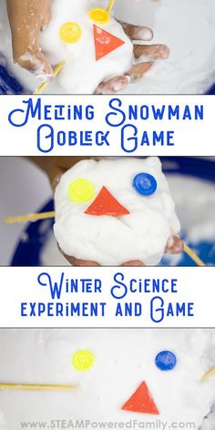 Learn how to make oobleck for this melting snowman activity. Learn about non-Newtonian fluids and build fine motor and sensory skills all while having fun! A fantastic hands on science project that is fun for all ages. Steam Activities, Science Activities For Kids, Preschool Science, Sensory Activities, Winter Activities, Science Projects, Toddler Preschool, Preschool Activities, Sensory Play