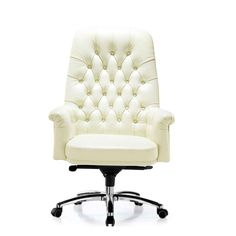 white swivel chair for desk