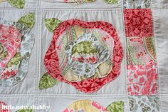 French Rose Quilt  four layers of fabric