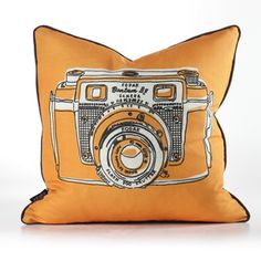 Shutter Pillow Orange now featured on Fab.