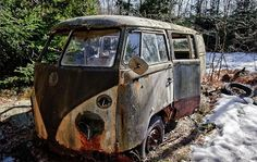 "this is some Hippy's old dream from the days of "" the dead"" Volkswagon Bus    Amazing Pics - Worlds Most Amazing Pictures: Amazing Rusted Cars"