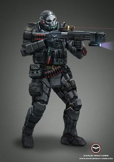 Alliance Boarding Trooper Learn More: http://icarusminiatures.com/concept-art-preview-alliance-boarding-trooper/