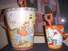 vintage sand pails