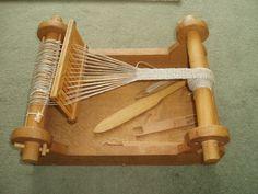 Beautiful box weaving loom - 15thC. Via Staffordcastle