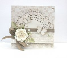 A beautiful wedding card by talented Johanna, using the Vintage Wedding collection wedding cards Pretty Cards, Cute Cards, Diy Cards, Butterfly Cards, Flower Cards, Wedding Anniversary Cards, Wedding Cards, Wedding Bells, Scrapbook Cards