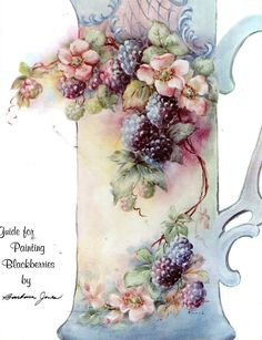 Guide for Painting Blackberries China Painting Pamphlet by Barbara Jones