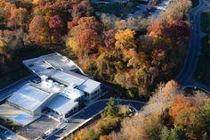 Fall 2015 Aerial photo of Roger Carter Community Center in Ellicott City