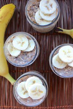 Vegan Peanut Butter and Banana Overnight Oats