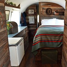 An Airstream Trailer Gets A Rustic Overhaul | Design*Sponge