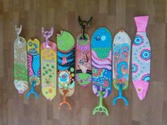 Hand painted fish decorative fan blades by palmbeachcreations image result for ceiling fan blade art aloadofball Image collections