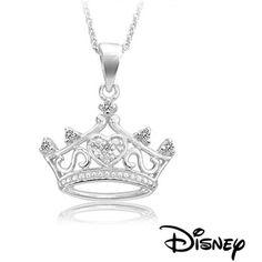 $19.99 - Disney Sterling Silver Princess Crown Pendant @Shauna (LilDuckieArts) Hadden Bryan Jewelry