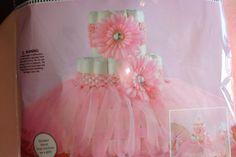 Girls Baby Shower Diaper Cake Kit; Fancy Diaper Cake; Pink Diaper Cake; Tiffany Baby Shower Themed; Ballarina Themed Shower; Wearable Access by trishah55 on Etsy