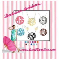 Pin me to Win me! Just re-pin and click here to tell us you did: www.facebook.com/... Winner chosen next Monday, May 14th! #Monogram #Preppy #Giveaway