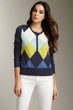 Cullen Cashmere Argyle Cardigan. [I could do without the name Cullen...]
