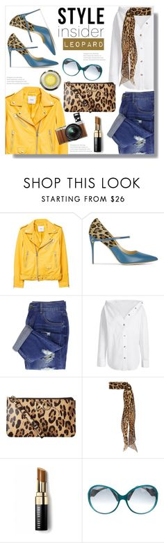 """Style Insider: Leopard"" by queenvirgo ❤ liked on Polyvore featuring MANGO, Jennifer Chamandi, Dolce&Gabbana, Yves Saint Laurent, Bobbi Brown Cosmetics, Emilio Pucci and Fujifilm"