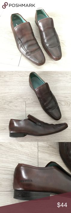 Ted baker Mens Dress Shoes Slip On Loafer Brown Used condition with signs of wear. Including the inside back of both heels. Please see photos for detail.     Brand - Ted Baker  Size - 10  Color - Brown  Style - Slip On Loafer Dress Shoes Ted Baker Shoes Loafers & Slip-Ons