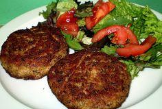 Η αίσθηση της γεύσης: TUNA BURGERS ή ΜΠΙΦΤΕΚΙΑ ΤΟΝΟΥ. Tuna Burgers, Greek Recipes, Cakes And More, Tandoori Chicken, Steak, Sandwiches, Beef, Fish, Ethnic Recipes