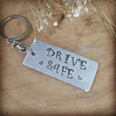 Drive safe keychain  drivers gift  new driver keyring  new