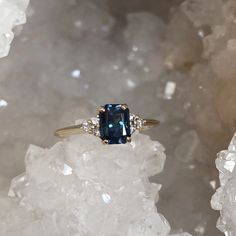 Green Sapphire Engagement Ring, Saphire Ring, Gold Sapphire Ring, Dream Engagement Rings, Gemstone Engagement Rings, Vintage Engagement Rings, Nontraditional Engagement Rings, Colored Engagement Rings, Solitaire Engagement