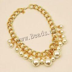 glass pearl #Necklace #jewelry http://www.beads.us/es/producto/Perlas-de-vidrio-collar_p121858.html